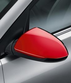 Накладки на бічні дзеркала заднього огляду (червоний, без повторювачів)