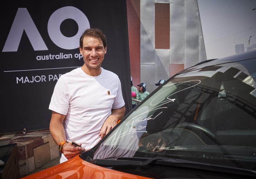 Kia Motors і Рафаель Надаль представили офіційні автомобілі Australian Open 2020
